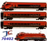 H0 JC 70402 set Railjet OBB Rh 1216+3