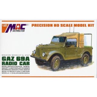 H0 MAC 87027 Stavebnice GAZ-69A 4x4 Radio car